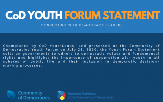 CoD YOUTH FORUM STATEMENT: JULY 23 2020