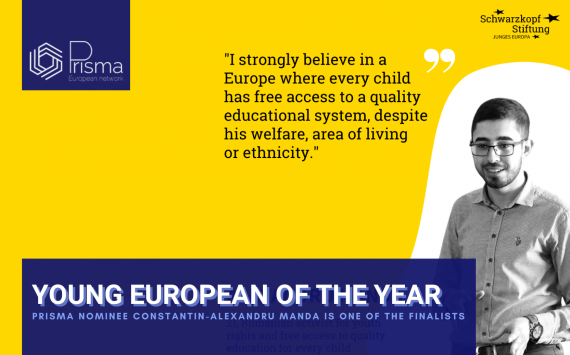 YOUNG EUROPEAN OF THE YEAR: Constantin-Alexandru Manda, PRISMA Nominee is one of the finalists